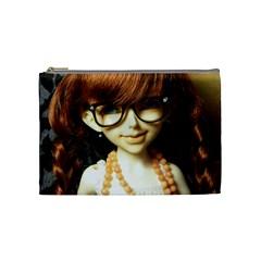 Red Braids Girl Cosmetic Bag (medium)  by snowwhitegirl