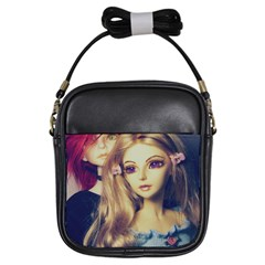 Doll Couple Girls Sling Bags by snowwhitegirl