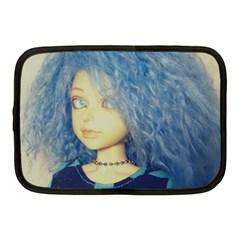 Blue Hair Boy Netbook Case (medium)  by snowwhitegirl