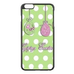 Easter Eggs Apple Iphone 6 Plus/6s Plus Black Enamel Case by Valentinaart