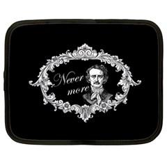 Edgar Allan Poe    Never More Netbook Case (xl)  by Valentinaart