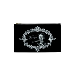Edgar Allan Poe    Never More Cosmetic Bag (small)  by Valentinaart