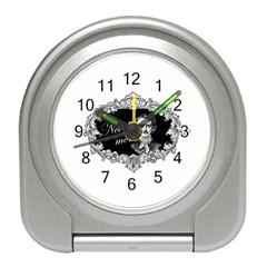 Edgar Allan Poe    Never More Travel Alarm Clocks by Valentinaart