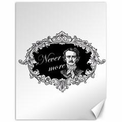 Edgar Allan Poe    Never More Canvas 12  X 16   by Valentinaart