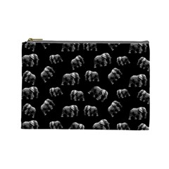 Elephant Pattern Cosmetic Bag (large)  by Valentinaart