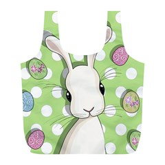 Easter Bunny  Full Print Recycle Bags (l)  by Valentinaart
