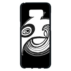 Bird Samsung Galaxy S8 Plus Black Seamless Case by ValentinaDesign