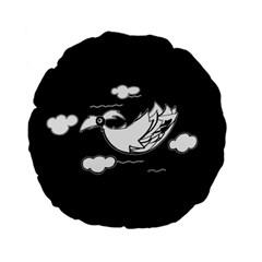 Bird Standard 15  Premium Flano Round Cushions by ValentinaDesign
