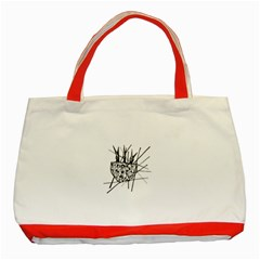 Bird Classic Tote Bag (red) by ValentinaDesign