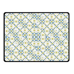 Vivid Check Geometric Pattern Double Sided Fleece Blanket (small)  by dflcprints