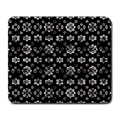 Dark Luxury Baroque Pattern Large Mousepads by dflcprints