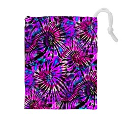 Purple Tie Dye Madness  Drawstring Pouches (extra Large) by KirstenStar