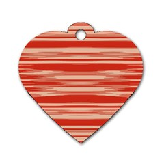 Abstract Linear Minimal Pattern Dog Tag Heart (one Side) by dflcprints