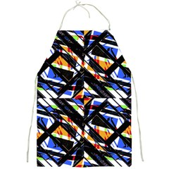Multicolor Geometric Abstract Pattern Full Print Aprons by dflcprints