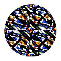 Multicolor Geometric Abstract Pattern Ornament (round Filigree) by dflcprints