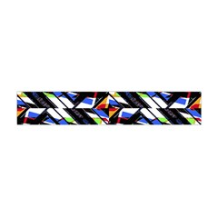 Multicolor Geometric Abstract Pattern Flano Scarf (mini) by dflcprints