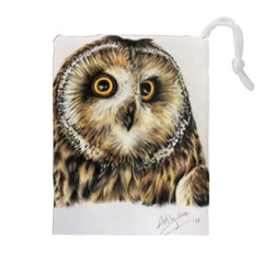 Owl Gifts Drawstring Pouch (xl) by ArtByThree