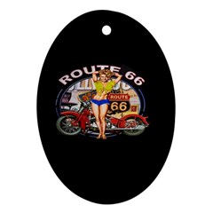 Route 66 Ornament (oval) by ArtworkByPatrick
