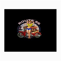 Route 66 Small Glasses Cloth by ArtworkByPatrick