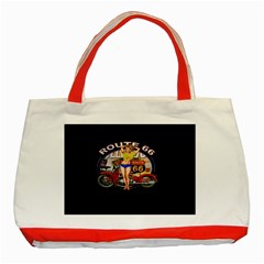 Route 66 Classic Tote Bag (red) by ArtworkByPatrick