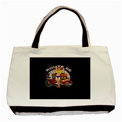 Route 66 Basic Tote Bag (two Sides) by ArtworkByPatrick