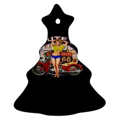 Route 66 Christmas Tree Ornament (two Sides) by ArtworkByPatrick