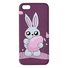 Easter Bunny  Apple Iphone 5 Premium Hardshell Case by Valentinaart