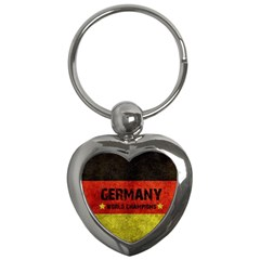 Football World Cup Key Chains (heart)  by Valentinaart