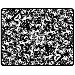 Black And White Abstract Texture Fleece Blanket (medium)  by dflcprints