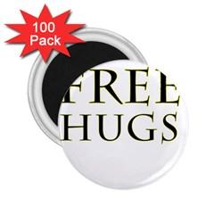 Freehugs 2 25  Magnets (100 Pack)  by cypryanus