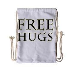 Freehugs Drawstring Bag (small) by cypryanus
