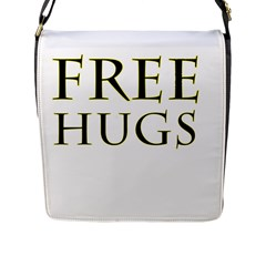Freehugs Flap Messenger Bag (l)  by cypryanus