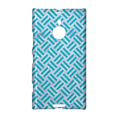 Woven2 White Marble & Turquoise Colored Pencil (r) Nokia Lumia 1520 by trendistuff