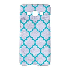 Tile1 White Marble & Turquoise Colored Pencil (r) Samsung Galaxy A5 Hardshell Case  by trendistuff