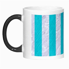 Stripes1 White Marble & Turquoise Colored Pencil Morph Mugs by trendistuff