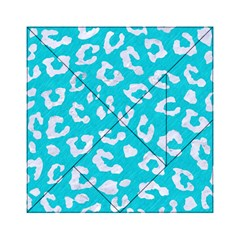 Skin5 White Marble & Turquoise Colored Pencil (r) Acrylic Tangram Puzzle (6  X 6 ) by trendistuff