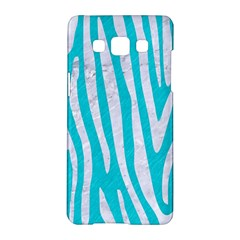 Skin4 White Marble & Turquoise Colored Pencil (r) Samsung Galaxy A5 Hardshell Case  by trendistuff