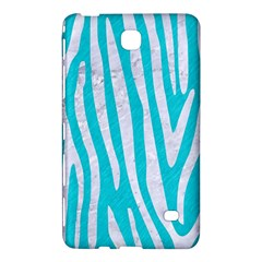 Skin4 White Marble & Turquoise Colored Pencil (r) Samsung Galaxy Tab 4 (7 ) Hardshell Case  by trendistuff