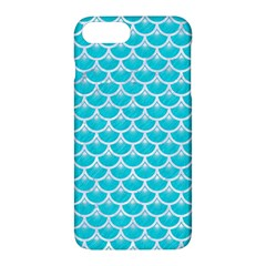 Scales3 White Marble & Turquoise Colored Pencil Apple Iphone 7 Plus Hardshell Case