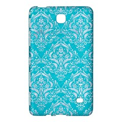 Damask1 White Marble & Turquoise Colored Pencil Samsung Galaxy Tab 4 (7 ) Hardshell Case  by trendistuff