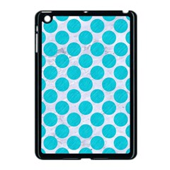 Circles2 White Marble & Turquoise Colored Pencil (r)encil (r) Apple Ipad Mini Case (black) by trendistuff