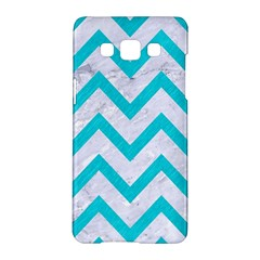 Chevron9 White Marble & Turquoise Colored Pencil (r) Samsung Galaxy A5 Hardshell Case  by trendistuff