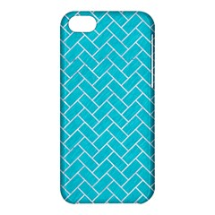 Brick2 White Marble & Turquoise Colored Pencil Apple Iphone 5c Hardshell Case by trendistuff