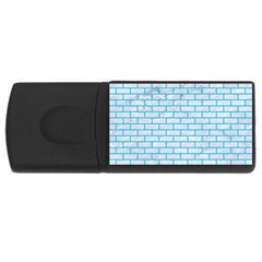 Brick1 White Marble & Turquoise Colored Pencil (r) Rectangular Usb Flash Drive by trendistuff