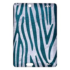 Skin4 White Marble & Teal Leather Amazon Kindle Fire Hd (2013) Hardshell Case by trendistuff