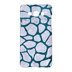 Skin1 White Marble & Teal Leather Samsung Galaxy A5 Hardshell Case  by trendistuff