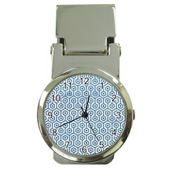Hexagon1 White Marble & Teal Leather (r) Money Clip Watches by trendistuff