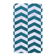 Chevron2 White Marble & Teal Leather Memory Card Reader by trendistuff