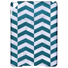 Chevron2 White Marble & Teal Leather Apple Ipad Pro 9 7   Hardshell Case by trendistuff