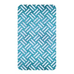 Woven2 White Marble & Teal Brushed Metal Memory Card Reader by trendistuff